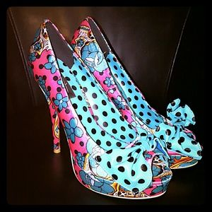 Big Bow Very Cute Pin Up Girl Heels
